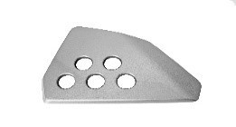 6115120022000 - FK12-MS metal silver right tail cover front decorative piece - Heckabdeckung rechts