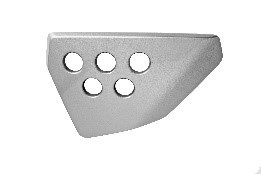 6115120021000 - FK12-MS metal silver left tail cover front decorative piece - Heckabdeckung links