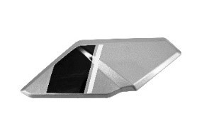 6115120020000 - Fuel tank right shield front deco panel (Silver) -  Tankverkleidung links silber