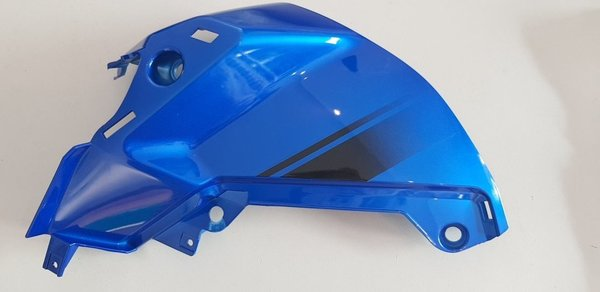 6115190004230- FK12-SF Fuel tank left cover (cool blue black decal) - Tank Verkleidung links blau