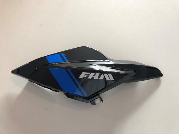 6115190007430- SF Fuel tank left shield front deco plate (black blue)  - Tank Verkleidung links